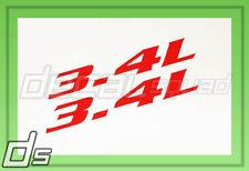 2x 3.4L Decal Cowl Hood Fender Door Sticker Badge Engine Liter L44 L32 LQ1 Z34