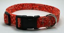 Bandanna Orange Dog Collar Adjustable Handmade Custom Designer