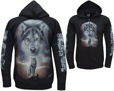 New Wolf Native American Indian Eagle Biker Zip Zipped Hoodie Hoody Jacket M-3XL