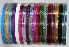 Nail Art  Zierstreifen, Stripes 0,5mm, selbstklebend, Farben nach Wahl, Fäden