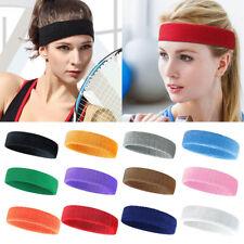 3 PCS Sports Headband Solid Elastic Breathable Towel Hair Band Yoga Running