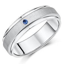 TITANE Bague mariage Designed SAPHIR fiançailles anneau de 7 mm