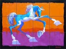 Tile Mural Backsplash Senkarik Ceramic Pony Horse Children's Bath Wall MSA072