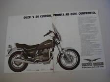 advertising Pubblicità 1983 MOTO GUZZI V50 V 50 CUSTOM