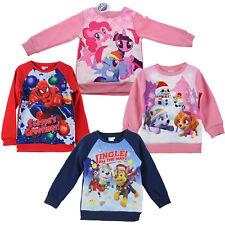 Kids Christmas Jumper Boys Girls Xmas Sweater Long Sleeve Tops Novelty Crew Neck