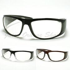 Mens Biker Eyeglasses Clear Lens Motorcycle Riding Glasses