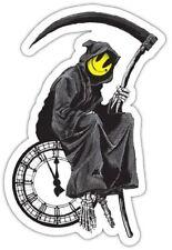 Grim Reaper Smiley Death Clock Banksy Vinyl Sticker Decal Car Truck Laptop Wall
