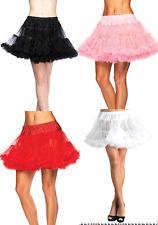 ADULT WOMENS CHIFFON COSTUME PETTICOAT CRINOLINE SKIRT BLACK WHITE PLUS SIZE XXL