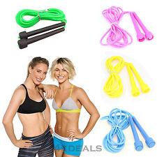 PLASTICA Skipping Rope JUMPING Velocità Boxing Palestra Fitness Allenamento Esercizio Aerobica