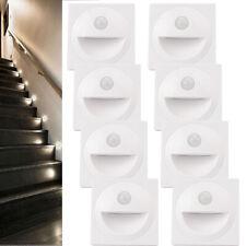 4/8 x Treppenlicht mit Bewegungsmelder Schalterdosen Unterputz Treppenleuchte