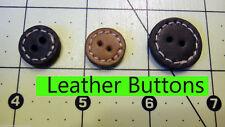 Leather STITCH vintage button cowboy Victorian steampunk western scrapbook black