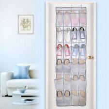 24 Pocket Shoe Toy Rack Wardrobe Over Door Hanger Shelf Storage Bag Organizer UK