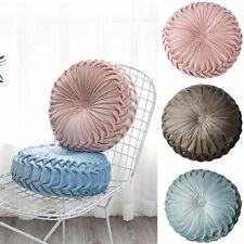 Round Velvet Pumpkin Seat Cushion Chair Pillow Cover Mat Couch Home Sofa Decor