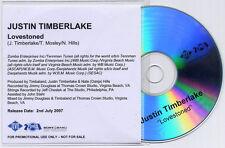 JUSTIN TIMBERLAKE Lovestoned 2007 UK 1trk promo test CD