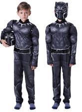 Black Panther Child Boy Costume Super Hero Cosplay Dress 2018 Explosion Hot Sale