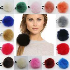 NEW Faux Fur Pom-Pom Hair Bobble Scrunchie Hairband Headband Elastic Girls