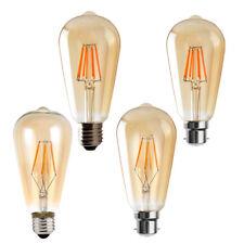 Vintage Industrial Retro Edison LED Bombilla Luz Lámpara E27/B22/E14 220 V ST64 4W/6W