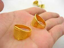 Reino Unido Stock Dedal Costura Quilting Metal Dedal Anillo hágalo usted mismo Craft protector de dedo de
