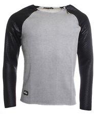 Redbridge Herren Longsleeve Shirt Pullover  Vintage-Destroyed R-41362 grau