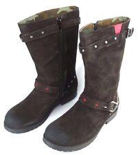 REPLAY LICHFIELD Damen Leder Mädchen Schuhe Stiefel Woman Boots Braun NEU