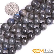 Natural AAA Grade Rainbow Labradorite Gemstone Round Beads For Jewelry Making YB