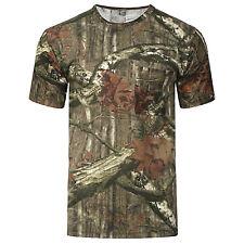 Para Hombres Camiseta árbol Selva Camo Print manga larga superior Bosque Real Camuflaje Ejército