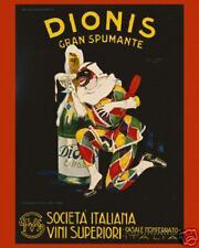 Dionis Art Deco Food Wine Ad Poster 16X20 ETP010C