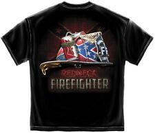 REDNECK FIREFIGHTER T-SHIRT FIREMEN FIRE RESCUE FIRE DEPT TEE S-3XL MENS BLACK