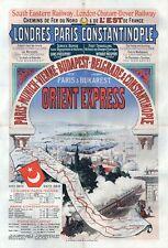 Vintage Victorian Orient Express Railway  Poster A3 Print
