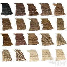 Clip In Extensions Clip On Haarteile 40 45 60 cm Indisches Remy Echthaar Tressen