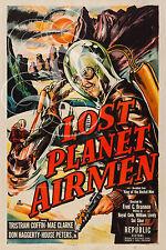 PLAQUE ALU DECO AFFICHE CINEMA LOST PLANET AIRMEN SCI FI 1951