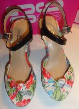 Ladies 9 & Co. Jabrielle Floral Peep Toe High Heel Bow Shoes Sizes 7.5, 10