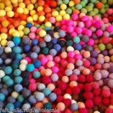 FELT BALLS 20 mm (2 cm) MIX OF COLORS OR CHOOSE Pom Pom Beads Craft DIY Acc.