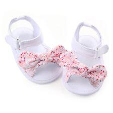 0-12M Baby Infant Girl Soft Sole Crib Sandals Shoes Toddler Newborn Prewalker US