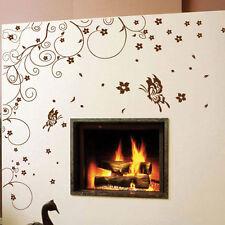 Fiore Della Vite Albero Piante Farfalla Adesivi murali Wall Art Decalcomanie Camera Da Letto