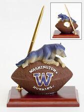 Washington Huskies Mascot Desk Set  Pen Clock  Football NCAA License College