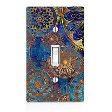 Blue Art Deco Light Switch Cover, Bedroom Decor, Home Decor, Bathroom Decor