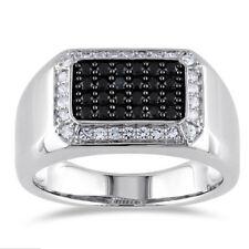 Infinity 925 Silver Jewelry Black & White Sapphire Women Wedding Ring Size 6-10