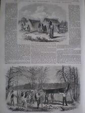 The Assinniboine and Saskatchewan Exploring Expedition Canada 1858 old prints