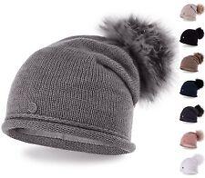 Cappello a palloncino Berretto lavorato maglia Invernale con ponpon pelliccia
