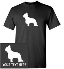 Briard Dog Silhouette T-Shirt, Men Women Kids Long Tank Personalized Custom Tee