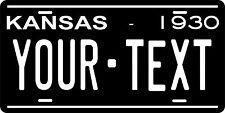 Kansas 1930 License Plate Personalized Custom Car Bike Motorcycle Moped Key Tag