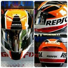 Repsol Custom Painted Airbrushed Motorcycle Helmet