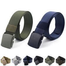 Mens Elastic Wearable Training Waist Belt Waistband Plastic Buckle Solid Color