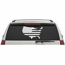 American Flag Map Laptop Window Wall Glass Door Car Truck Vinyl Sticker Decal