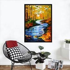 3D Oil Painting River 47 Framed Poster Home Decor Print Painting Art AJ