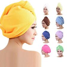 Womens Microfiber Bath Towel Hair Dry Hat Cap Quick Drying Lady Bath Tool New
