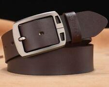 Genuine Cowhide Leather Belts For Men Women Unisex Classic Buckle Strap
