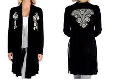 Liberty Wear Women's Paisley Split Cardigan - Black