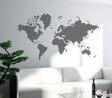 Wall Decal World Map Atlas Travel Vinyl Sticker For Living Room (z2825)